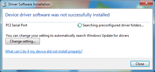 DLPCIe Install Windows 7 driver-Configure the card and set Allen