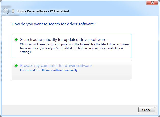 DLPCIe Install Windows 7 driver-Configure the card and set