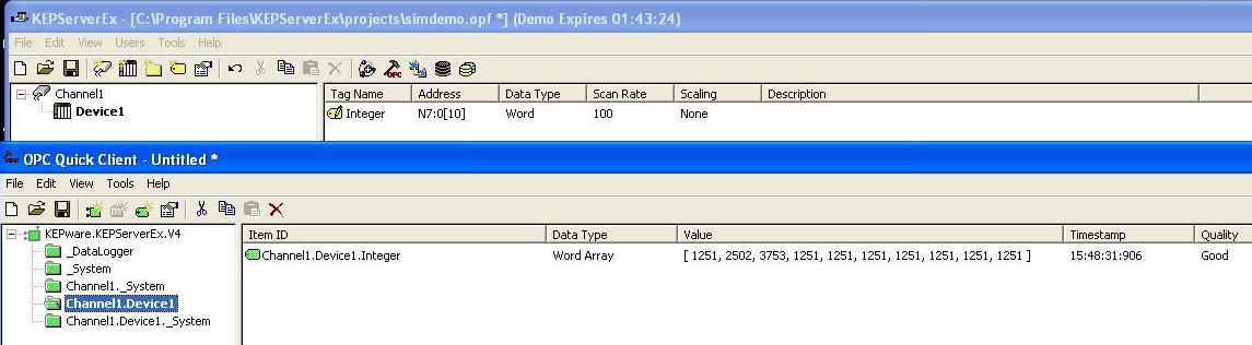 DLPCIe Kepware Application Note