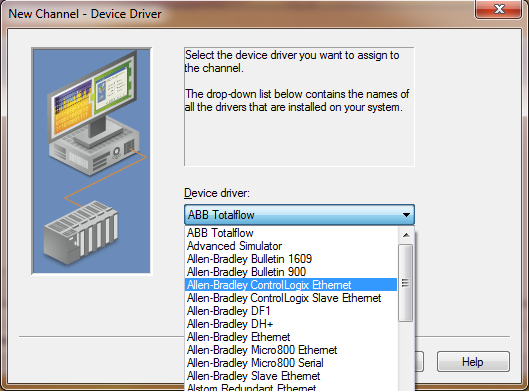 Access Allen Bradley PLC software from Kepware ServerEX